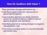 how do auditors add value