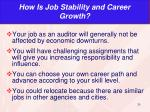 how is job stability and career growth