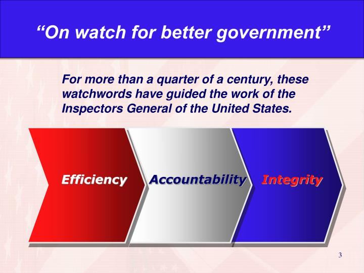 """On watch for better government"""