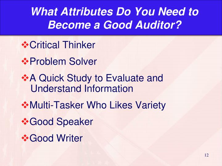 What Attributes Do You Need to Become a Good Auditor?