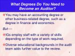 what degrees do you need to become an auditor