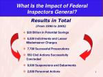 what is the impact of federal inspectors general