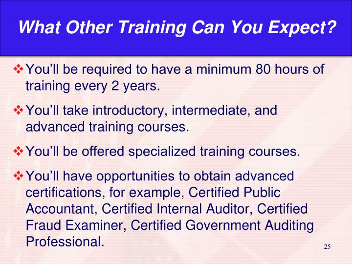 What Other Training Can You Expect?