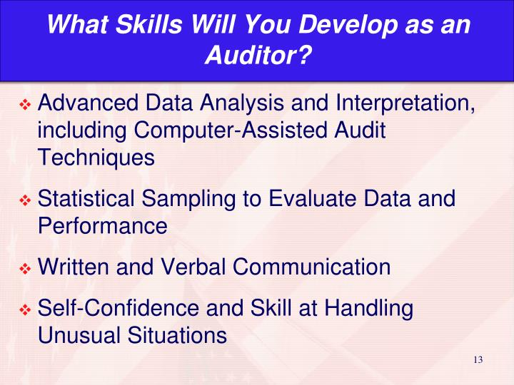 What Skills Will You Develop as an  Auditor?