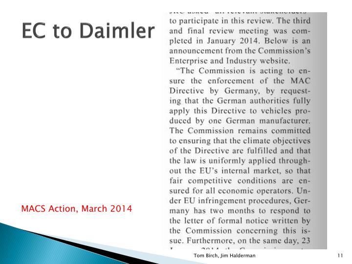 EC to Daimler