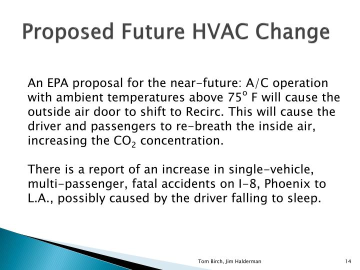 Proposed Future HVAC Change