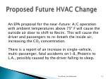 proposed future hvac change