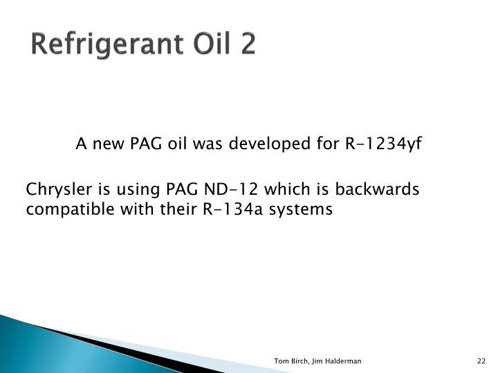 Refrigerant Oil 2