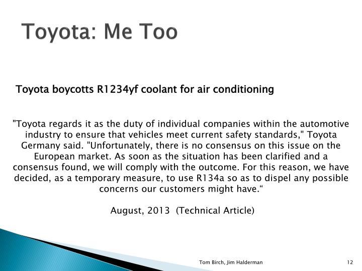 Toyota: Me Too