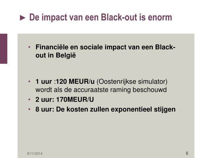 De impact van een Black-out is enorm