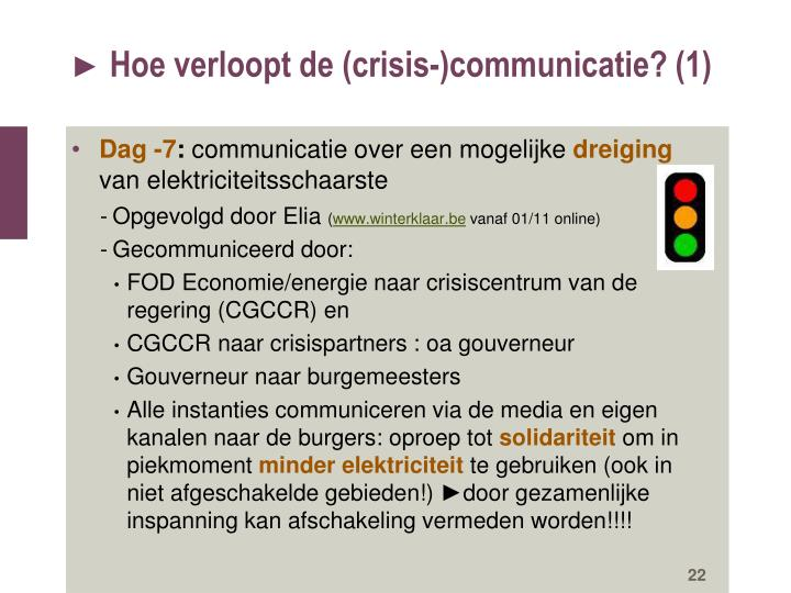 Hoe verloopt de (crisis-)communicatie? (1)