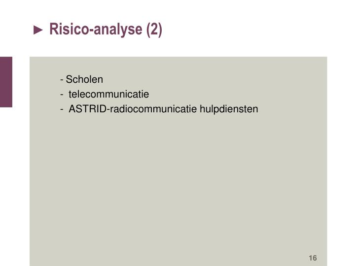 Risico-analyse (2)