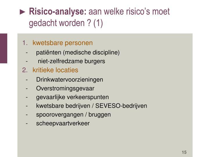 Risico-analyse: