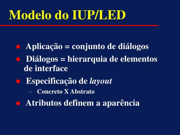 Modelo do IUP/LED
