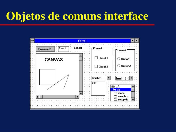 Objetos de comuns interface