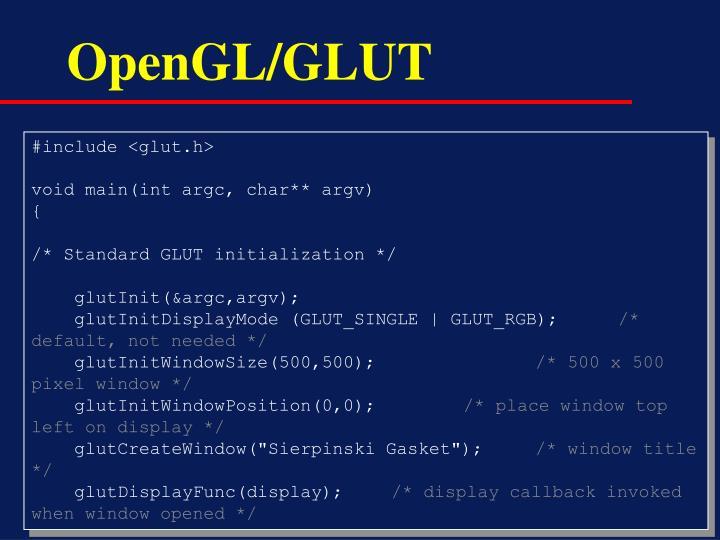 OpenGL/GLUT