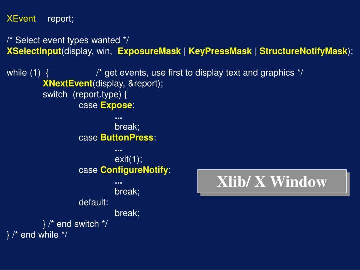 Xlib/ X Window