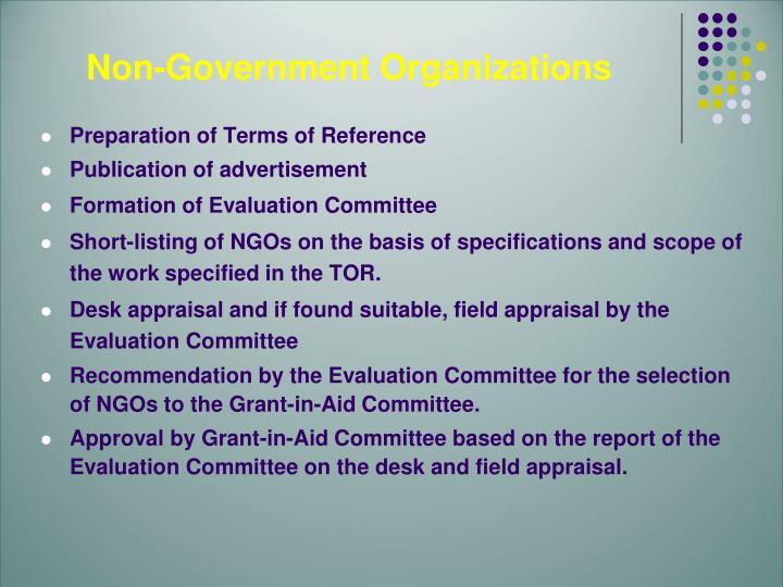 Non-Government Organizations