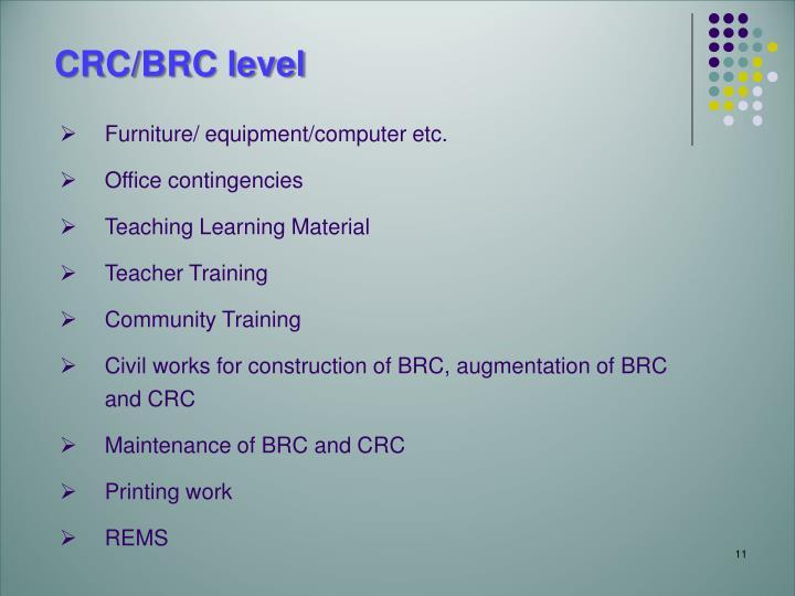 CRC/BRC level