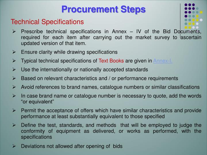 Procurement Steps