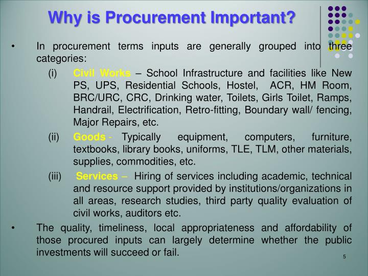 Why is Procurement Important?
