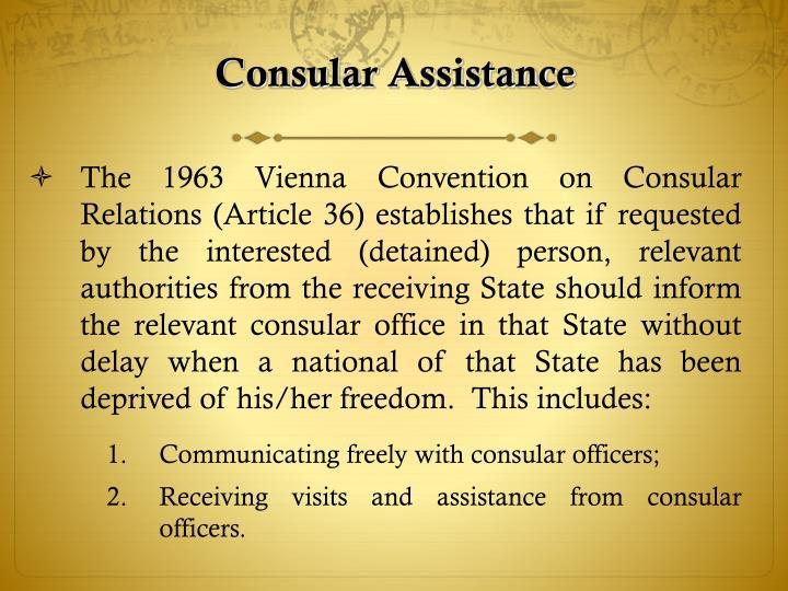 Consular Assistance