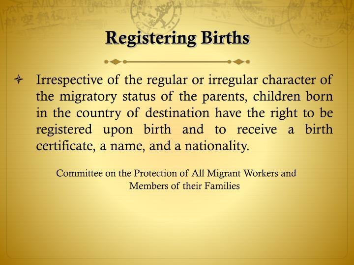 Registering Births