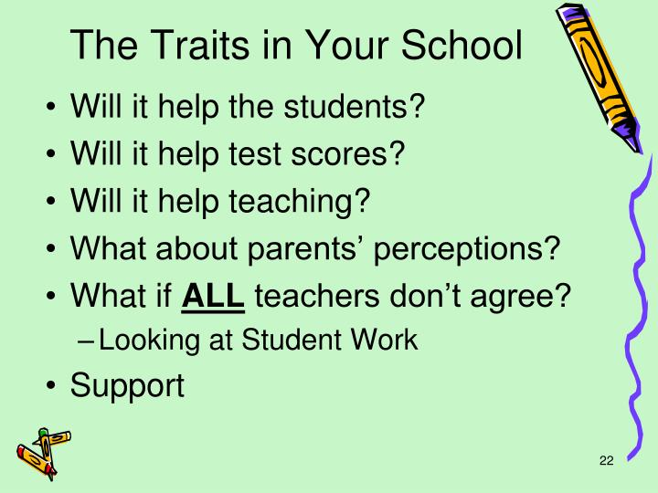 The Traits in Your School