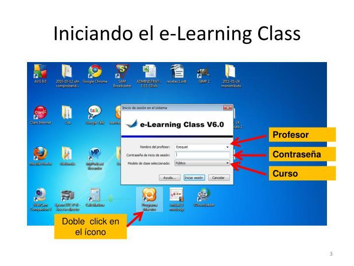 Iniciando el e-Learning Class