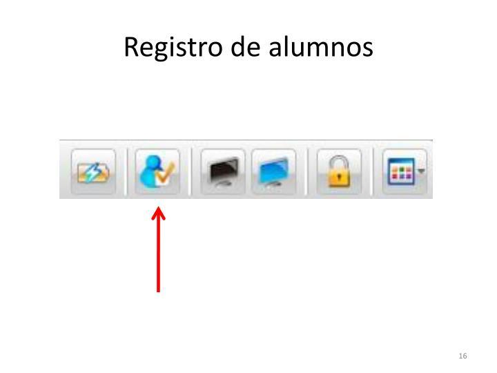 Registro de alumnos