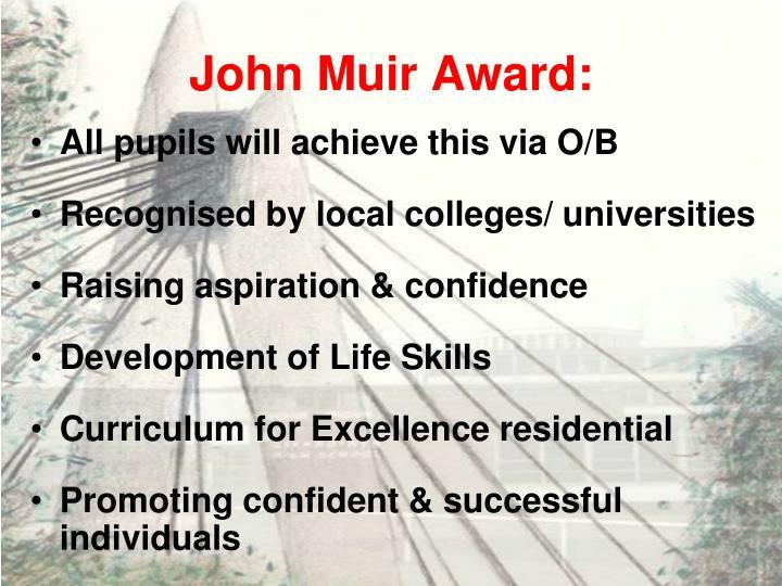 John Muir Award:
