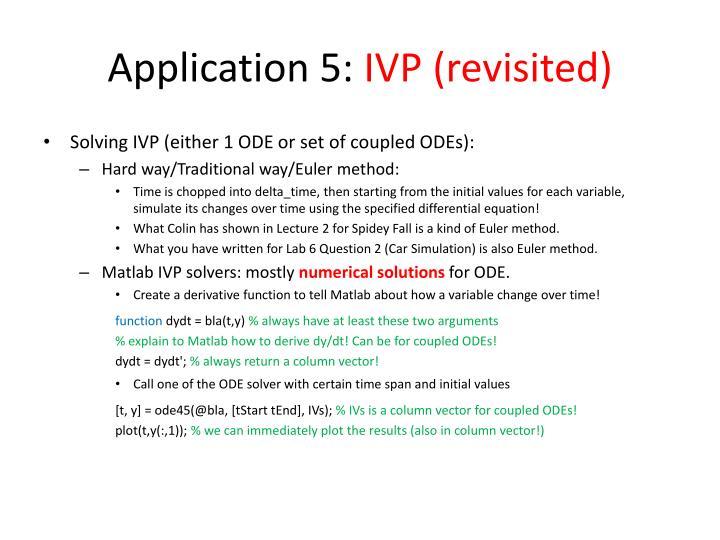 Application 5:
