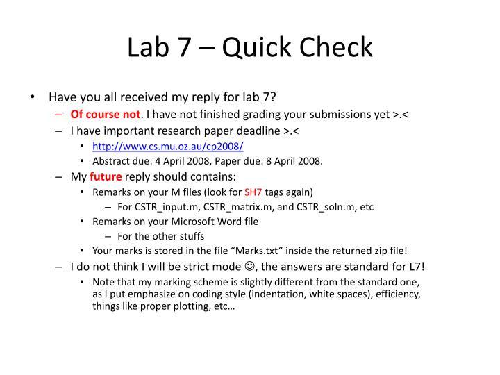 Lab 7 – Quick Check