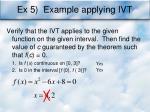 ex 5 example applying ivt
