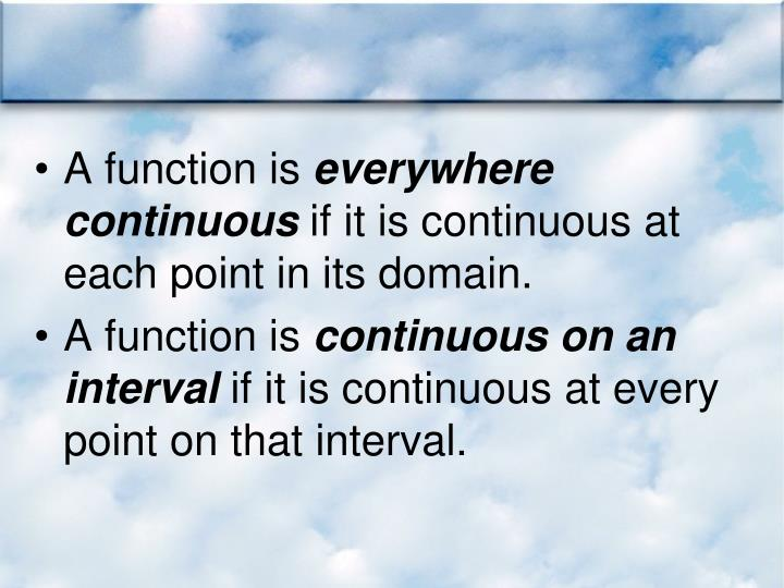A function is