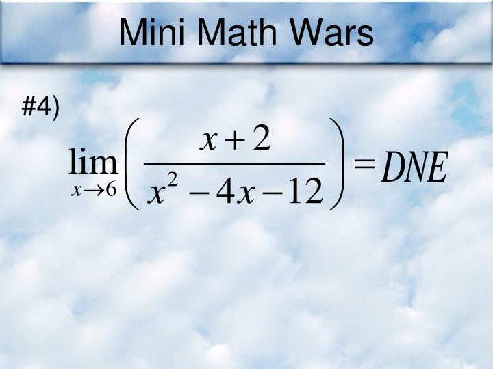 Mini Math Wars