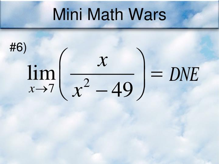 Mini Math Wars