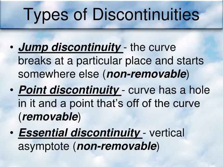 Types of Discontinuities