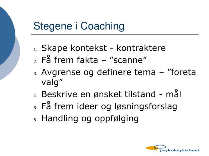 Stegene i Coaching
