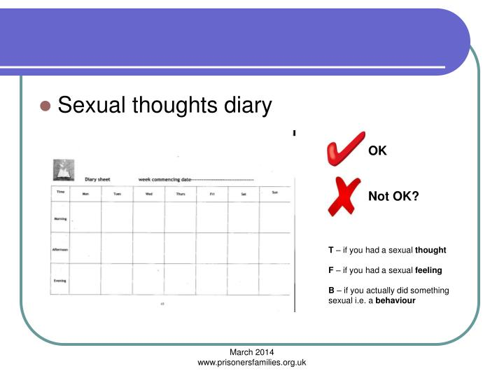 Sexual thoughts diary