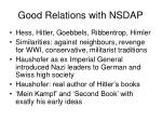 good relations with nsdap
