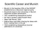 scientific career and munich