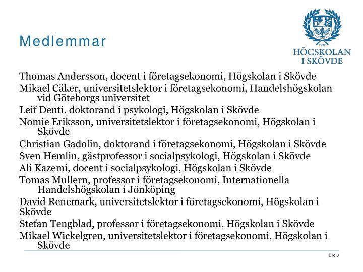 Thomas Andersson, docent i företagsekonomi, Högskolan i Skövde