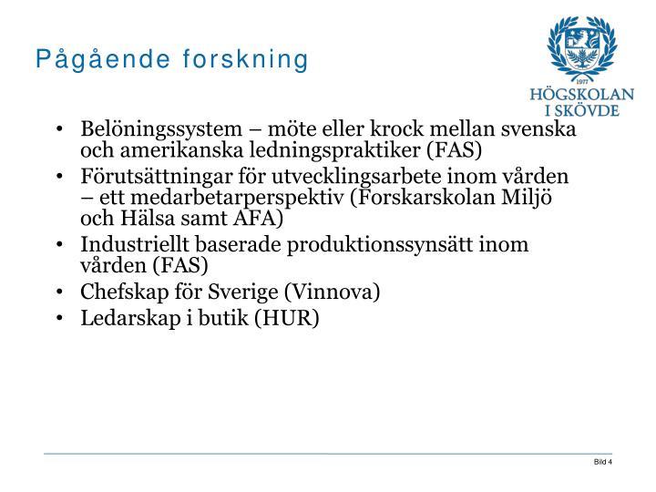 Belöningssystem – möte eller krock mellan svenska och amerikanska ledningspraktiker (FAS)