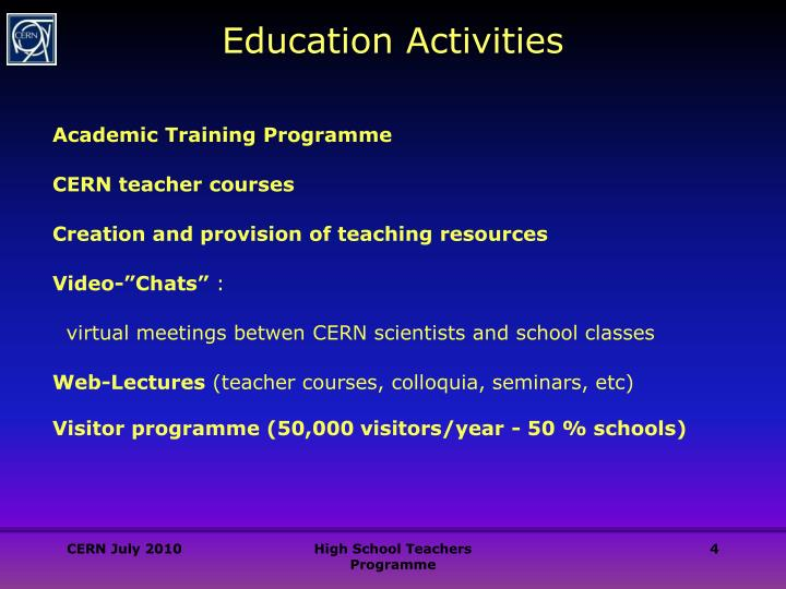 Education Activities