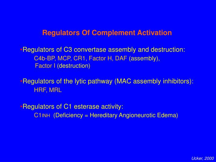 Regulators Of Complement Activation