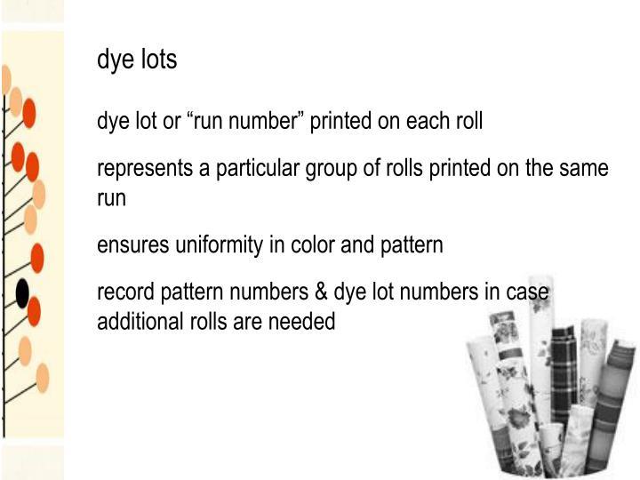 dye lots