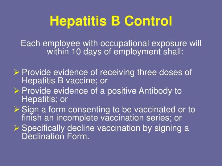 Hepatitis B Control
