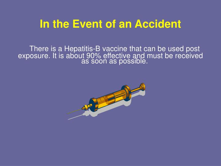 In the Event of an Accident