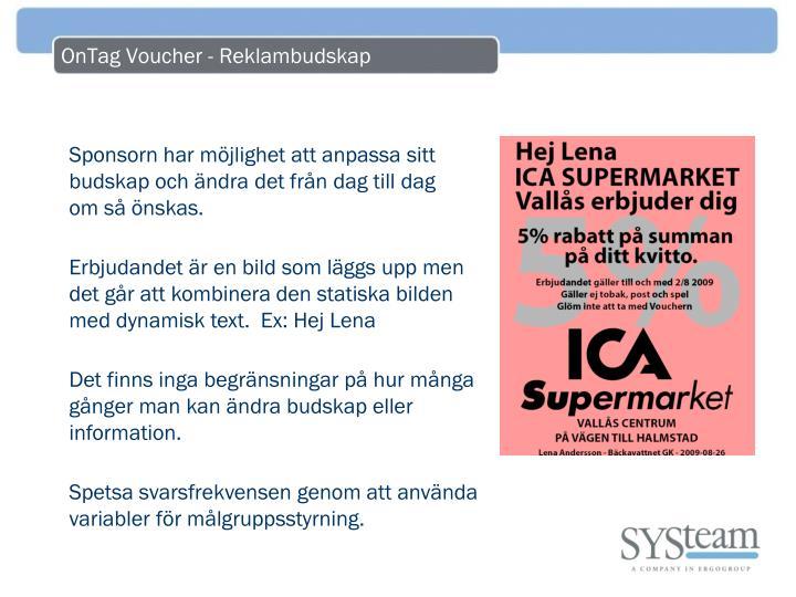 OnTag Voucher - Reklambudskap